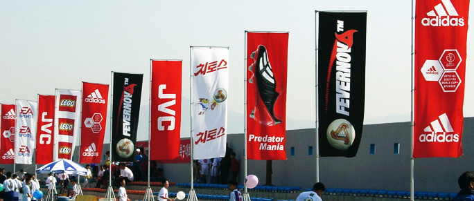 flags or banners