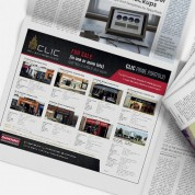 CLIC Newspaper advert, Graphic design, Logo Design, Cork, Upper Case
