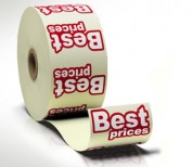 Roll Labels, Printing, Graphic Design, Cork, Upper Case
