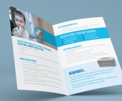 Leaflet design by Upper Case in Cork