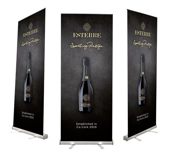 Roll Up Display Stand Design Graphic Design Upper Case