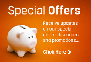 Special Offers - Receive updates on our special offers, discounts and promotion