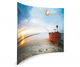 Fabric display stands design by Upper Case in Cork