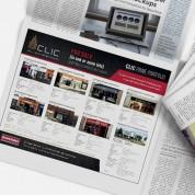 CLIC Newspaper advert, Graphic design, Logo Design, Cork, Upper Case