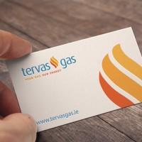 Tervas business card Upper Case Graphic Design Cork