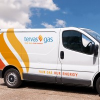 Tervas Gas, Van, Logo, Design, Upper Case