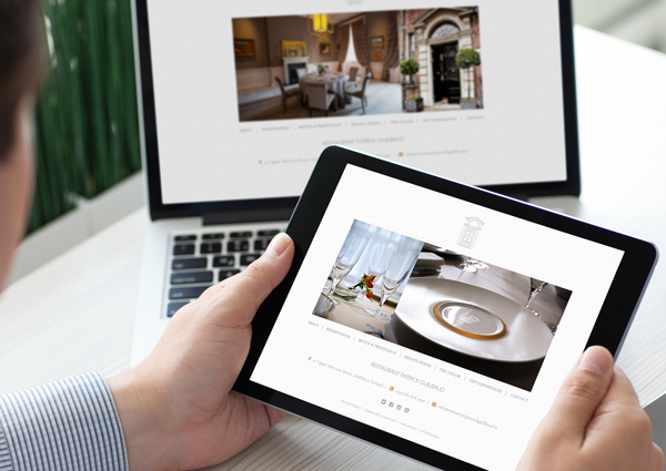 Restaurant Patrick Guilbaud Web design Design by Upper Case