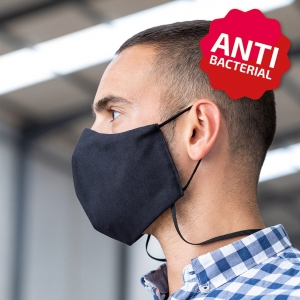 2 layer anti bacterial face mask with lanyard
